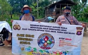 Polsek Kapuas Kuala Tingkatkan Sosialisasi Ajak Warga Bijak Bermedsos