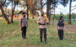 Kapolres Seruyan Pastikan Langsung Objek Wisata Steril Pengunjung