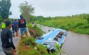 Polresta Palangka Raya Tetapkan Sopir Bus DAMRI Tersangka Kecelakaan