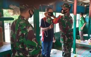 Jaga Perbatasan Tetap Zona Hijau, TNI di Lamandau Gencar Sosialisasi Pencegahan Covid-19