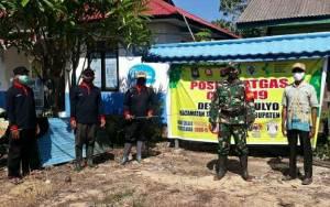 Fasilitas Publik di Kapuas Kuala Didatangi Satgas PPKM