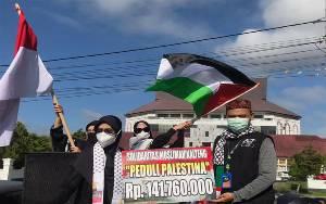 Solidaritas Muslimah Kalteng Kumpulkan Rp 141,7 Juta untuk Palestina