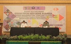 Wagub Kalteng Buka Rapat Koordinasi Gugus Tugas Reforma Agraria