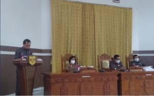 DPRD Kabupaten Gunung Mas Setujui 4 Raperda Menjadi Perda