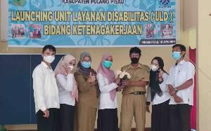 Disnakertrans Pulang Pisau Launching Unit Layanan Disabilitas