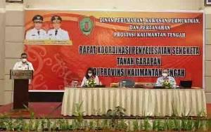 Dinas Perkimtan Kalteng Rakor Penyelesaian Sengketa Tanah Garapan