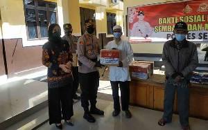 Polres Seruyan Sediakan Hadiah Paket Sembako untuk Peserta Vaksinasi Massal