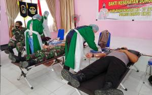 Polres Barito Timur Gelar Donor Darah Massal