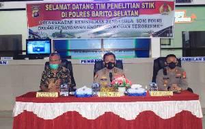 Tim Supervisi Bidang PPITK Lemdiklat Mabes Polri Kunjungi Polres Barito Selatan