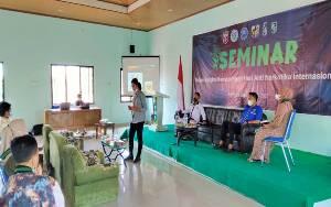 Polda Kalteng Bersama BNNP Gelar Seminar Anti Narkoba kepada Mahasiswa