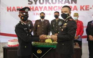 Polres Kapuas Gelar Syukuran Peringati Puncak HUT Bhayangkara ke-75