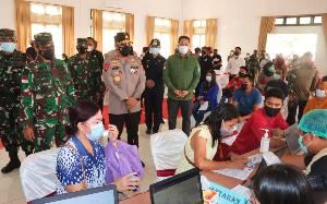 Sasaran Vaksinasi Massal di Kalteng Sudah Lebih 11.000 Orang
