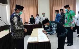 Kakanwil Kemenag Kalteng H Abdul Rasyid Lantik 4 Kepala Kemenag Kabupaten Ini