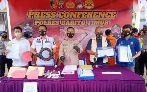 Polres Barito Timur akan Buru Penadah Hasil Pencurian Sparepart Alat Berat di Surabaya