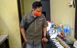 9 Wartawan Ikut Tes Urine yang Dilakukan Satres Narkoba Polres Gunung Mas