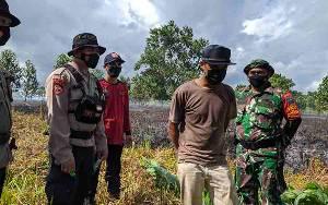 Polisi Amankan Seorang Terduga Pembakar Lahan di Jalan Pramuka