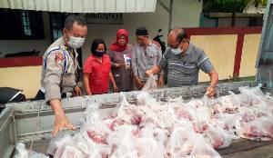 Bantuan Hewan Kurban dari H Abdul Rasyid AS di Polda Kalteng Tersalur untuk Masyarakat
