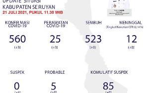 3 Warga Seruyan Hilir Terkonfirmasi Positif Covid-19