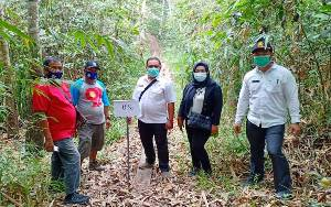 Camat Benua Lima Monitoring Pembangunan di Desa Banyu Landas