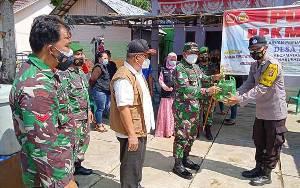 Dandim Buntok Cek Kesiapan Pos PPKM Mikro di Kecamatan Pematang Karau