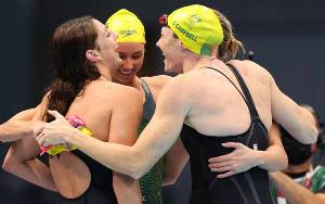 Australia Cetak Rekor Dunia, Sabet Emas Estafet 4x100 Gaya Bebas Putri
