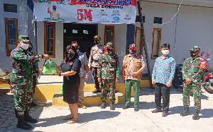 Dandim Buntok Cek Kesiapan Posko PPKM Mikro di 4 Kecamatan Barito Timur