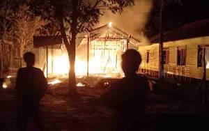 Rumah Warga di Desa Tewang Papari Katingan Habis Terbakar