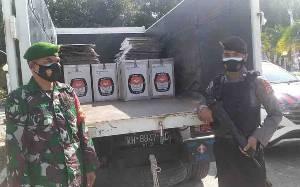 Polres Sukamara Kawal Pendistribusian Logistik Pilakdes Serentak