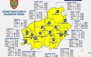 5 Wilayah Kalteng ini Masuk Zonasi Merah