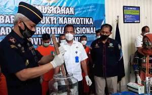 BNN Provinsi Kalteng Musnahkan Ratusan Gram Sabu dan Ganja