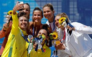 AS Raih Emas Voli Pantai Putri Olimpiade Tokyo