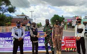 Satgas Covid-19 Kecamatan Selat Pantau Pos Penyekatan Dalam Kota