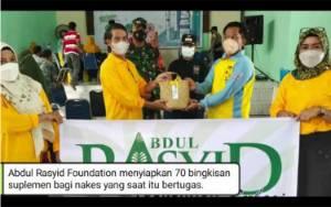VIDEO: Abdul Rasyid Foundation Beri Tali Asih untuk Lansia dan Nakes pada Vaksinasi Massal di Desa Natai Baru