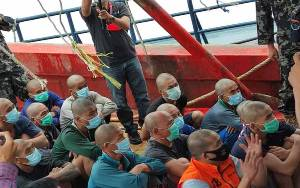 Kapal Vietnam Terbakar dan Tenggelam saat Dikejar KKP