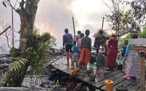 Petir Menyambar, 1 Rumah Warga di Katingan Terbakar