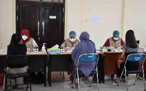 Puluhan Ibu Hamil di Lamandau Serentak Datangi Puskesmas untuk Divaksin