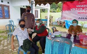 Polres Barito Timur Gelar Vaksinasi Gerai Presisi di Desa Haringen