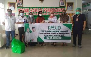 Abdul Rasyid Foundation Salurkan Bantuan Makanan untuk Tim Pemulasaraan Jenazah RSUD Doris Sylvanus