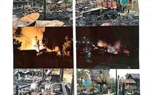 5 Rumah 3 Barak di Tumbang Manggu Katingan Hangus Terbakar