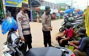 Petugas Lakukan Patroli Sasar Kawasan Pasar