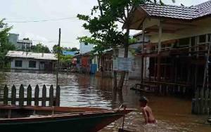 Beberapa Desa di Barito Selatan Mulai Terendam Banjir, Berikut Rinciannya