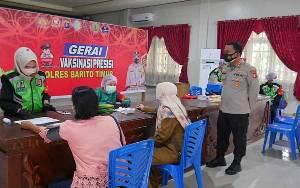 Polres Barito Timur Vaksinasi Dosis I untuk ASN dan Masyarakat Umum