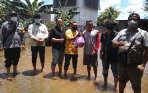 PWI Barito Selatan Salurkan Bantuan Sembako Bagi Warga Terdampak Banjir