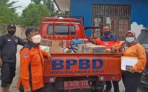 BPBD Palangka Raya Distribusikan Logistik untuk Pengungsi Banjir