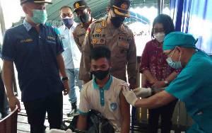 Bupati Gunung Mas Apresiasi Serbuan Batalyon Vaksinator