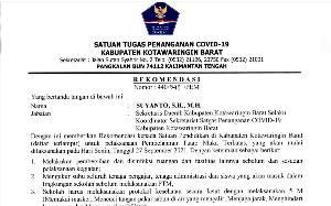SD dan Madsarah Ibtidaiyah di Kobar Dapat Rekomendasi Laksanakan PTM Terbatas