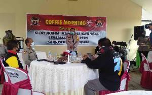 Eratkan Jalinan Silaturahmi, Polres Katingan Coffe Morning Bersama Insan Pers