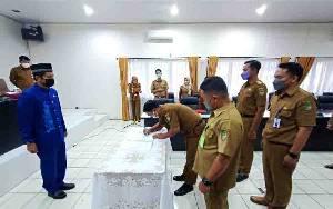 Lima Pejabat Setda Barito Utara Serah Terima Jabatan