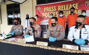 Polres Gunung Mas Gelar Press Release Sejumlah Kasus Tindak Pidana