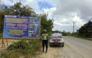 Polres Gunung Mas Tindak Truk ODOL Melintas di Jalan Trans Kalimantan